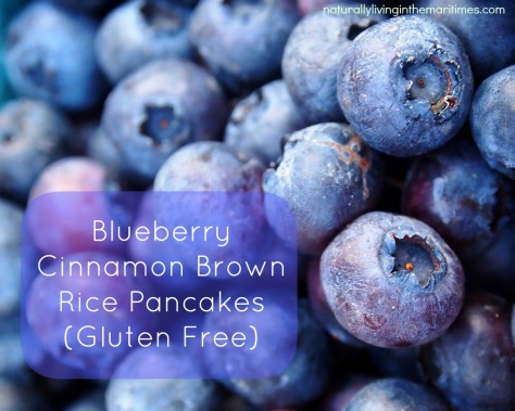 Blueberry Cinnamon Brown Rice Pancakes (Gluten Free)